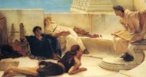 «Una lectura de Homero» (1885), de Lawrence Alma-Tadema.