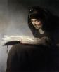 «Anciana leyendo un libro» es un retrato que Rembrandt hace a su madre hacia 1629.