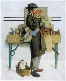 Con su «Ratón de biblioteca» (1926), Norman Rockwell quiso rendir homenaje a la obra homónima de Carl Spitzberg, de 1850.