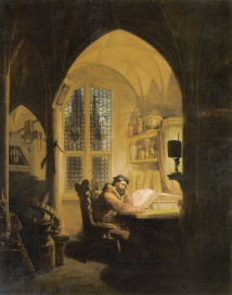 «Fausto en su estudio» (1829), de Georg Friedrich Kersting.